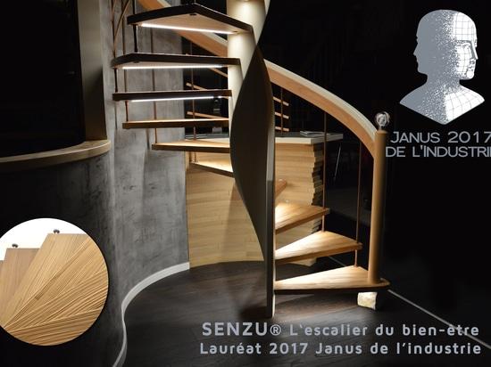 L'escalier avec marches Senzu de Treppenmeister vient d'être couronné par le prix Janus de l'industrie.