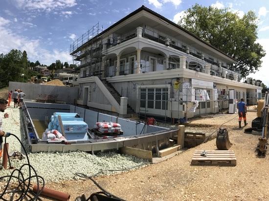 Remblai allégé MISAPOR Greenlight pour construction d'une piscine à 1095 Lutry, Suisse