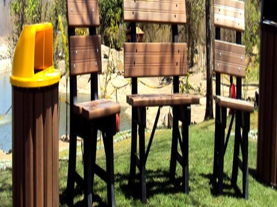 Bois thermoplastique artificiel fait en traitant le vieux plastique en bois et d'ordure. Matériel par Ecopex.