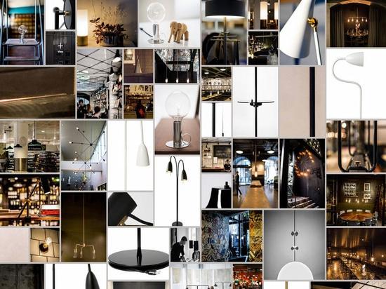 Un collage des produits d'éclairage de RUBN.