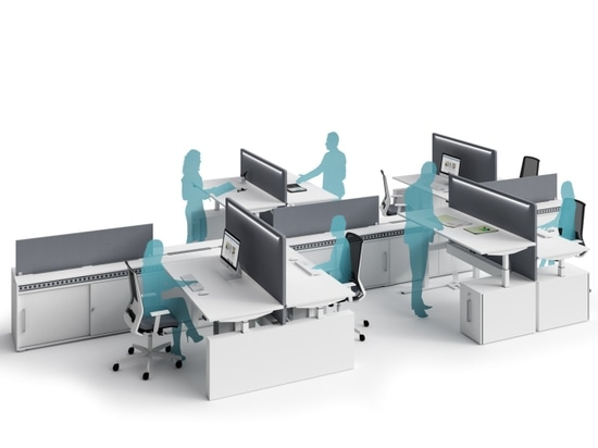bureaux Taille-réglables avec la structure électrique