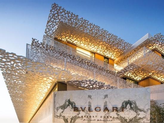 station de vacances et résidences du projet BVLGARI de liniLED®