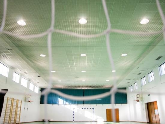 Pavillon des Sports avec l'éclairage industriel de Brilumen