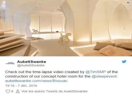 La salle orientée sensation de #sleepset de tribu d'a incorporé par @AukettSwanke a annoncé le lavabo de Laufen #sleep16