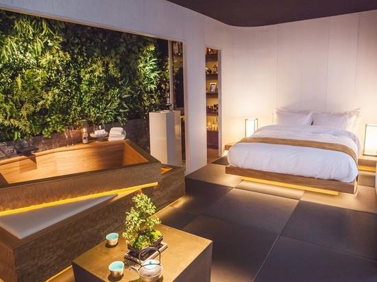 Le sommeil établi a placé par conception de Mitsui. Crédit : Sven Eselgroth Pphotography