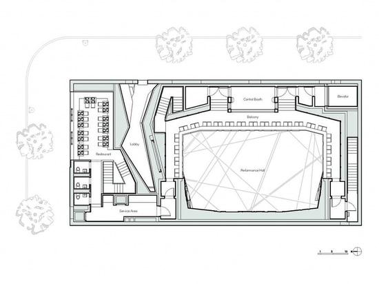 Plan d'étage national de sciure. Courtoisie de l'architecte