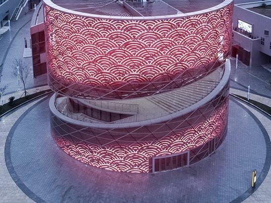 Textile tissé central de références de textile en spirale de la porcelaine d'ATAH