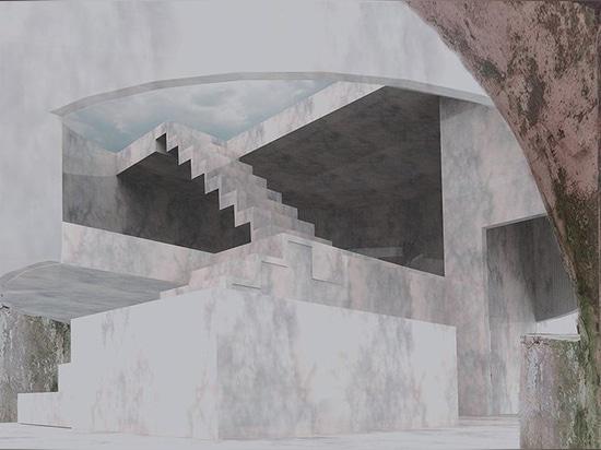 le bureau opposé propose de transformer le château sicilien historique avec les additions géométriques