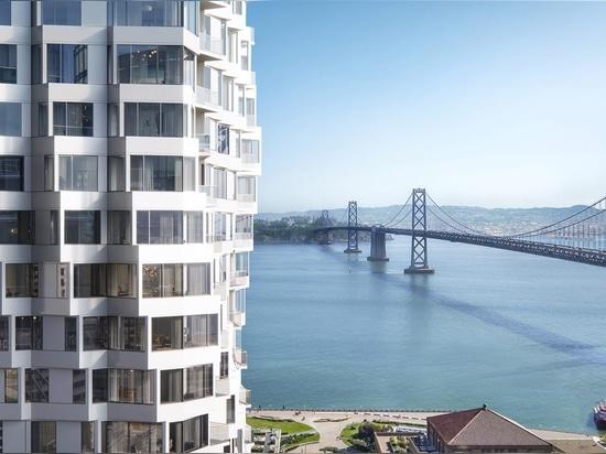 Tour de Mira de la bande de studio à San Francisco pour comporter tordre des fenêtres en saillie