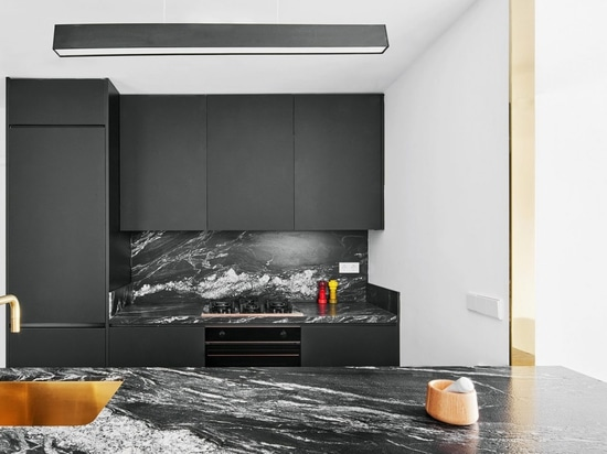 Raúl Sánchez Architects emploie noir et blanc pour définir les espaces en appartement de Barcelone