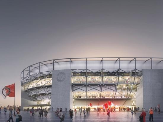 OMA dévoile des plans pour le plus grand stade de football aux Pays-Bas