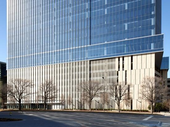 Immeuble de bureaux certifié LEED Silver équipé de toiles pour l'architecture HAVER