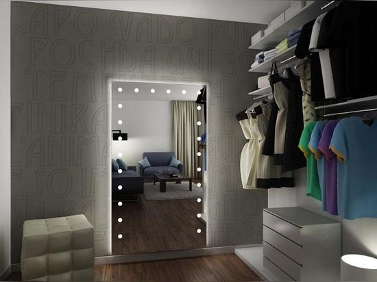 Unica miroir lumineux pour vestiaire