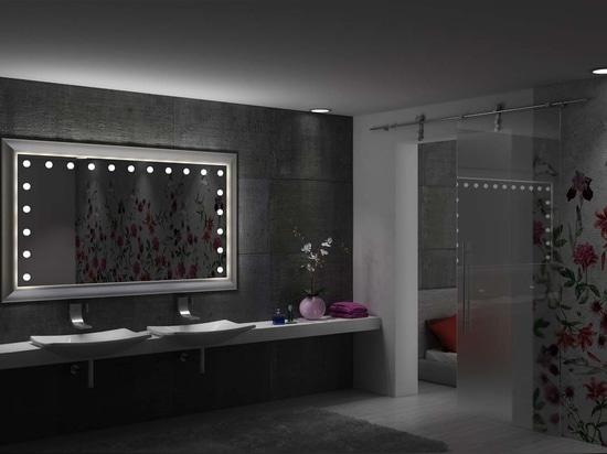Unica, miroir éclairé pour salle de bain