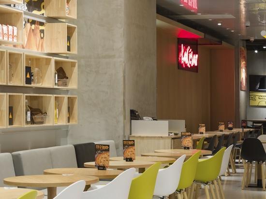 Projet de restaurant La Cesar Pizza. feat. TA Yi Fauteuil accoudoir par TOOU.