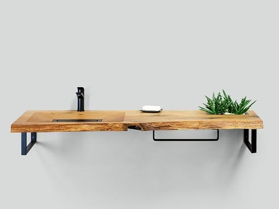 Lavabo en bois CONE Holzwaschtisch CONE