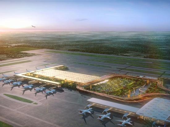 """Conception par SOM du nouveau """"Garden Terminal"""" à l'aéroport international de Kempegowda au Bengaluru"""
