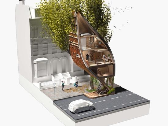 Street Tree Pods : Une proposition créative pour ajouter plus de logements à Londres