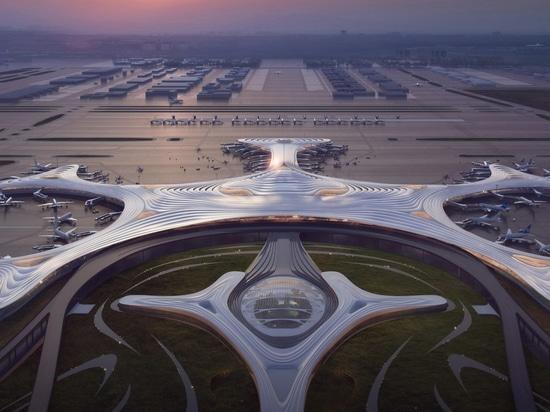 """MAD dévoile le design """" flocon de neige """" de l'aérogare 3 de l'aéroport de Harbin en Chine"""