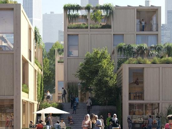 SPACE10 + EFFEKT envisagent le'projet de village urbain' comme une communauté de vie durable et partagée