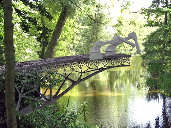 L'endroit du pont n'a pas été encore déterminé mais sera annoncé bientôt. Lisez plus : Amsterdam ? le nouveau pont 3D-printed en acier de s révolutionne le pont en acier imprimé par 3D d'industrie ...