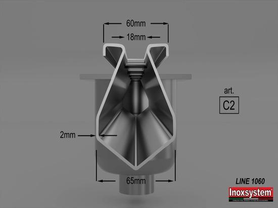 Caniveau à fente Inoxsystem® en acier inoxydable - LIGNE 1060