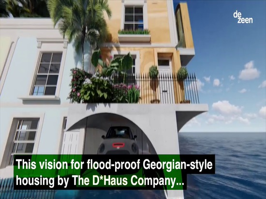 D*Haus Company conçoit l'hommage inondation-résistant à l'architecture géorgienne