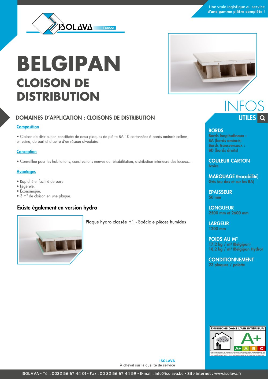 Plaque De Platre Ba10 dedans belgipan - isolava - catalogue pdf | documentation | brochure