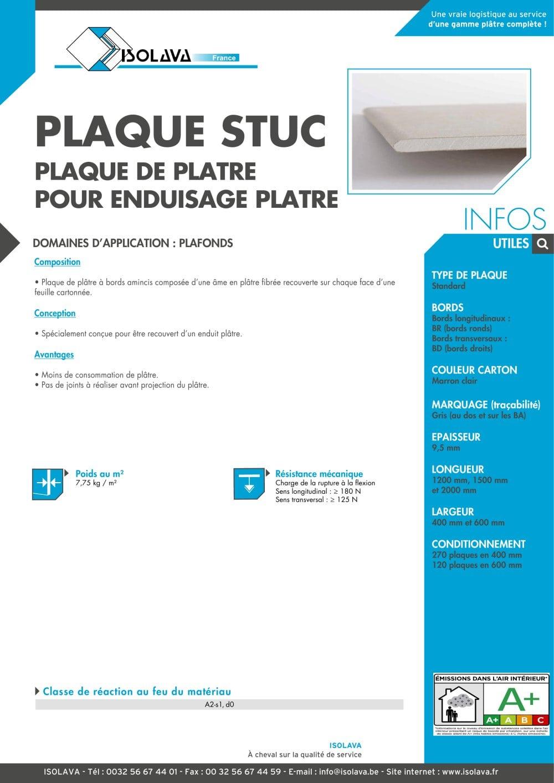 Plaque De Platre Ba10 concernant plaque stuc - isolava - catalogue pdf | documentation | brochure