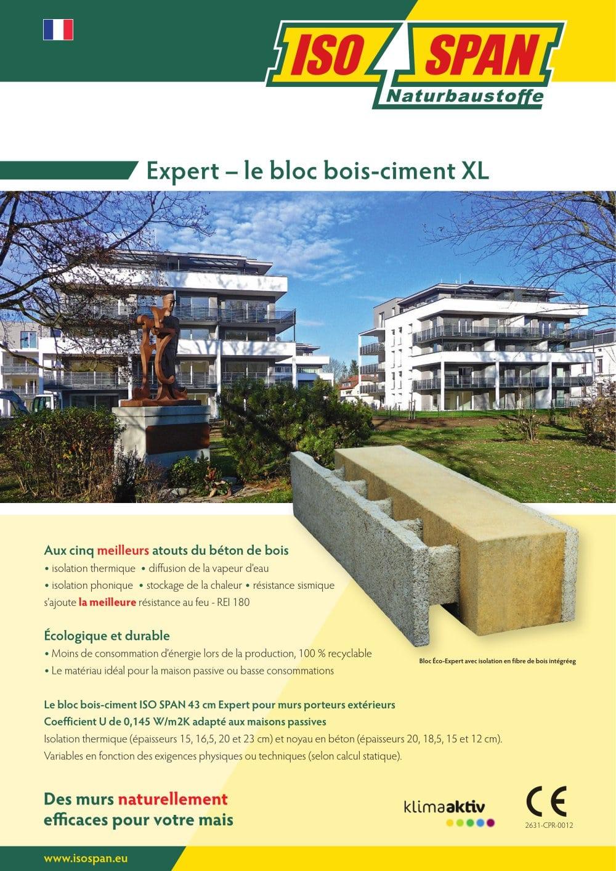 expert - le bloc bois-ciment xl - isospan baustoffwerk gmbh