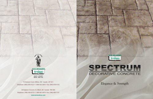 SPECTRUM PRODUCT SERIES Decorative Concrete Catalog