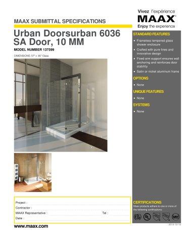 Urban Doorsurban 6036 SA Door, 10 MM