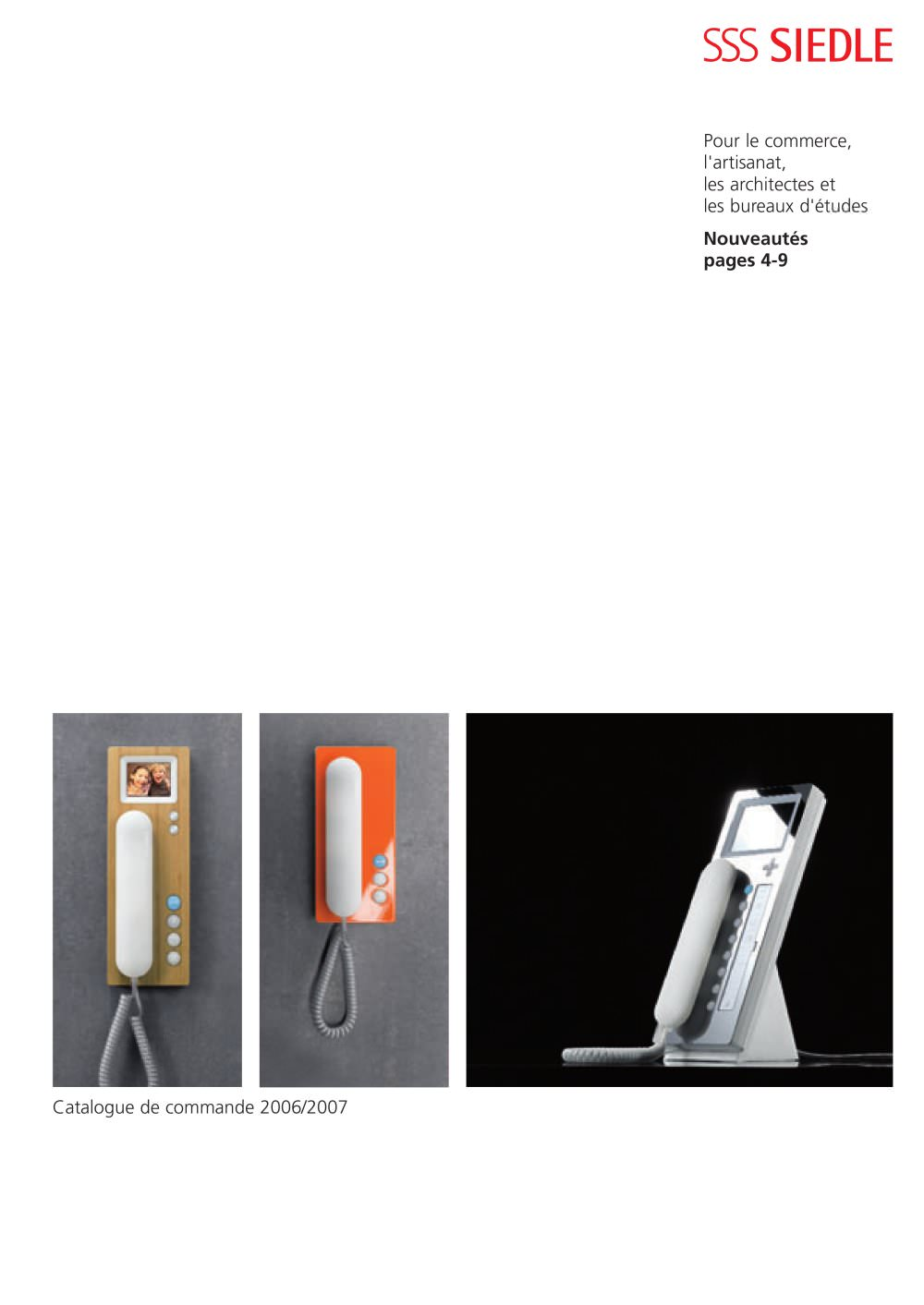 siedle catalogue 2006-2007 - sss siedle - catalogue pdf