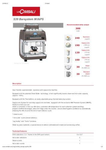 S39 Barsystem MilkPS