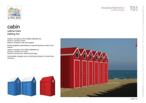 tourist bathing huts