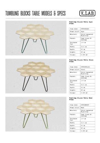 TUMBLING BLOCKS TABLE