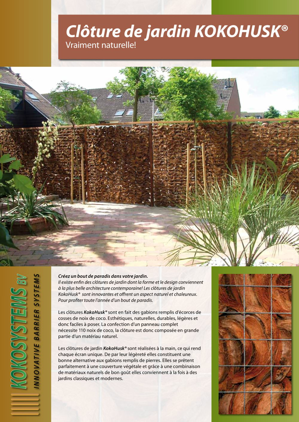 Cloture-de-jardin KOKOHUSK - Kokosystems BV - Catalogue PDF ...