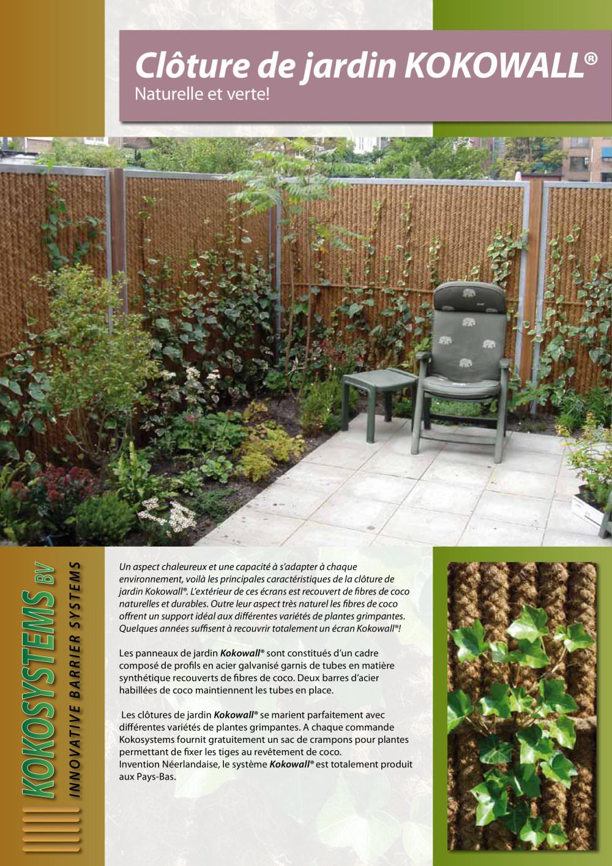 Clôture de jardin KOKOWALL - Kokosystems BV - Catalogue PDF ...