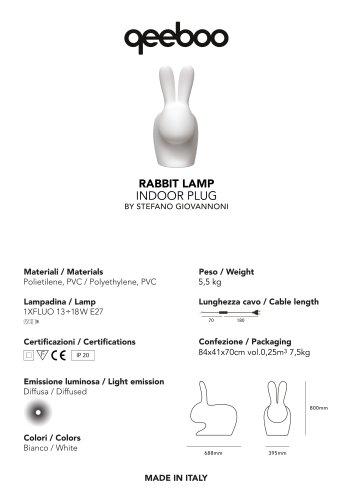 RABBIT LAMP INDOOR PLUG