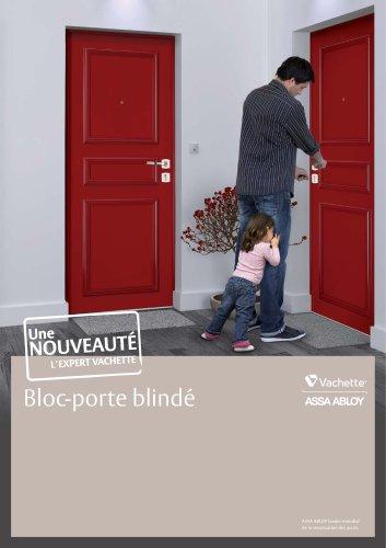 Plaquette Bloc-porte blindé