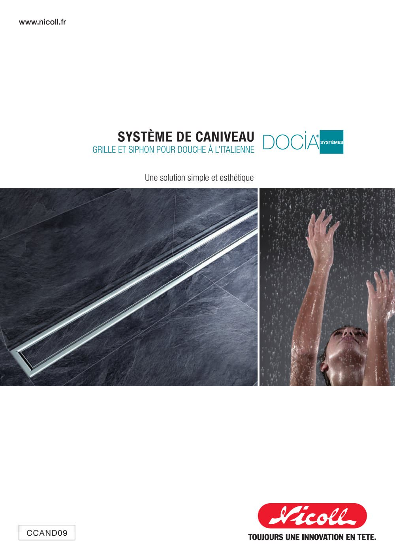 Guide Caniveaux De Douche Docia Nicoll Catalogue Pdf
