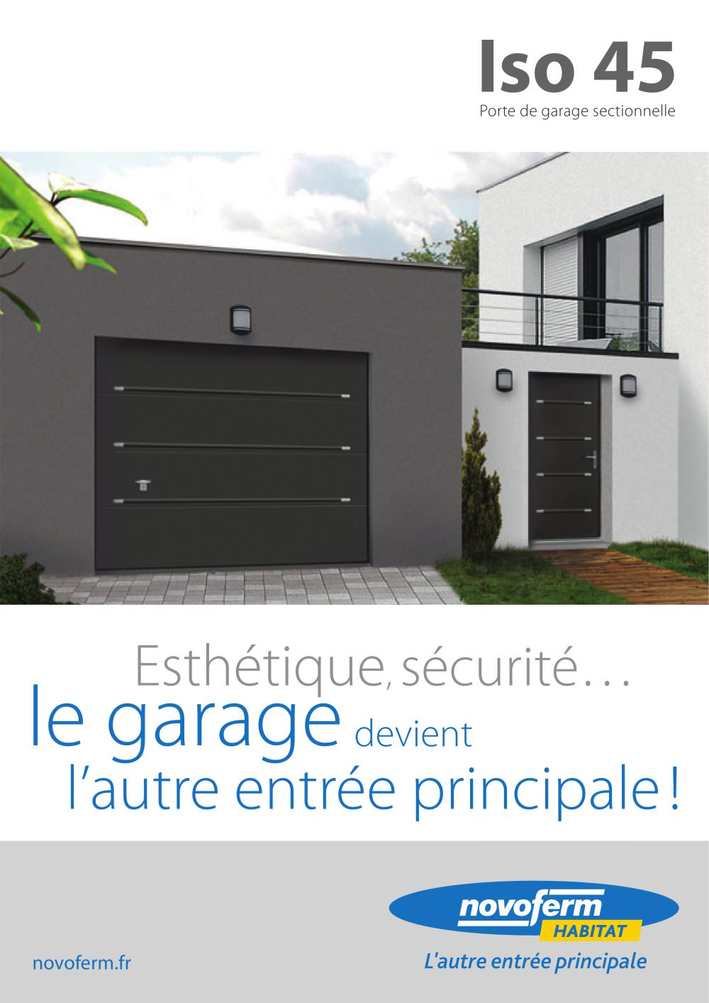 Iso Porte De Garage Sectionnelle NOVOFERM INDUSTRIE Catalogue - Porte de garage sectionnelle avec poignee porte pvc