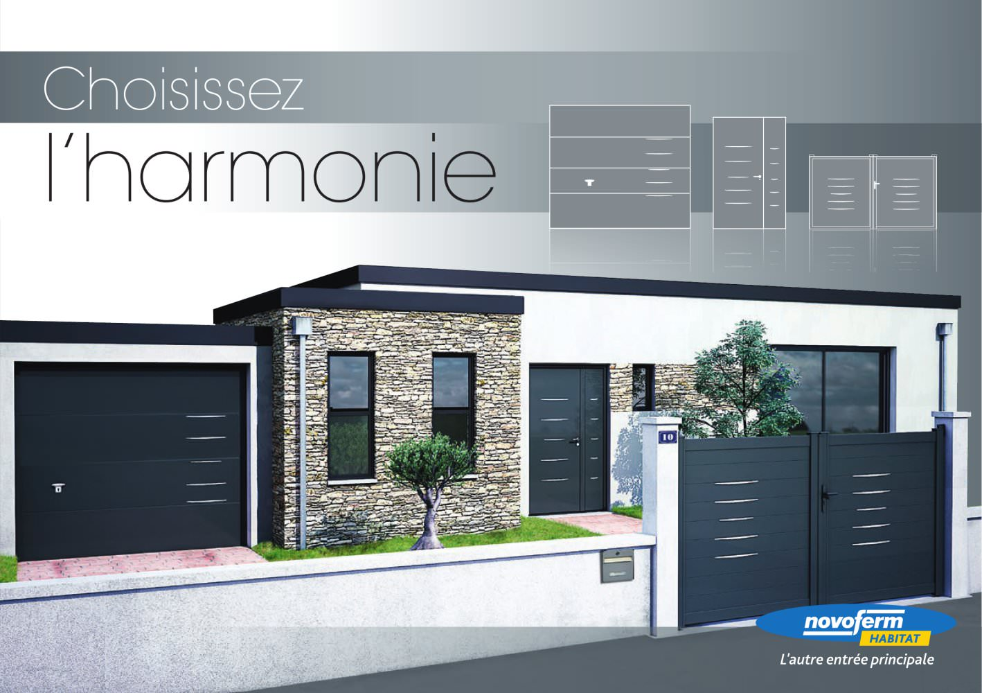 Porte De Garage Sectionnelle Iso45 Design Belm Novoferm Industrie