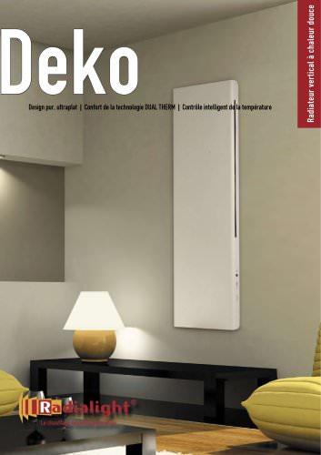 Deko radiateur vertical electrique