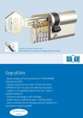 Cylindres de serrures - Gege pExtra