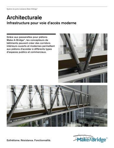 Infrastructure pour voie d'accès moderne