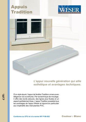 Appui De Fenêtre Tradition Weser Catalogue Pdf Documentation