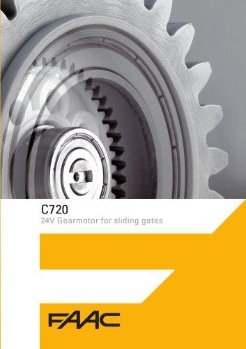 C720 24V Gearmotor for sliding gates
