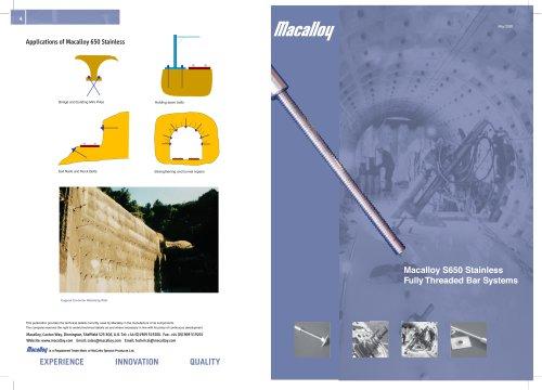 Macalloy 650 Fully Threaded Bar