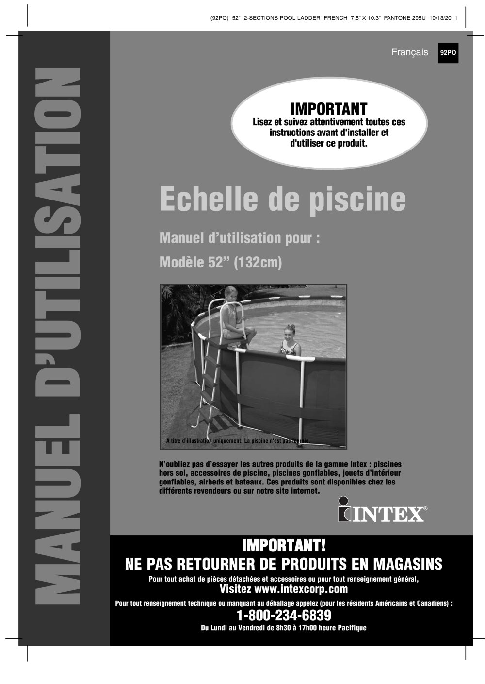 Echelle de piscine - INTEX - Catalogue PDF   Documentation   Brochure b124f78a030